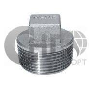 """Пробка четырехгранная резьбовая 1 1/2"""" ( DN 40мм) NPT-М ASME B16.11 (нержавеющая сталь)"""