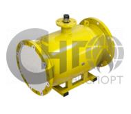 Кран фланцевый полнопроходной под редуктор/электропривод DN100 PN16 (газ) сталь 20